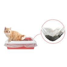 Домашнее животное кошка фекалий фильтр хэндс-фри 10 шт./компл. многоразовые кошки просеивания Лоток Для Мусора гильзы эластичный котенок гигиенических туалетов гильзы
