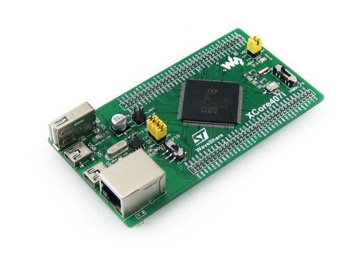 STM32F407IGT6 STM32 Cortex-M4 развития Основной совет IO расширитель с бортовым NandFlash USB HS/FS Порты и разъёмы Ethernet RJ45 = XCore407I