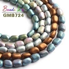 8-11mm Irregular Matte Natural Hematite Stone Spacer Beads for Jewelry Making Diy Bead Bra