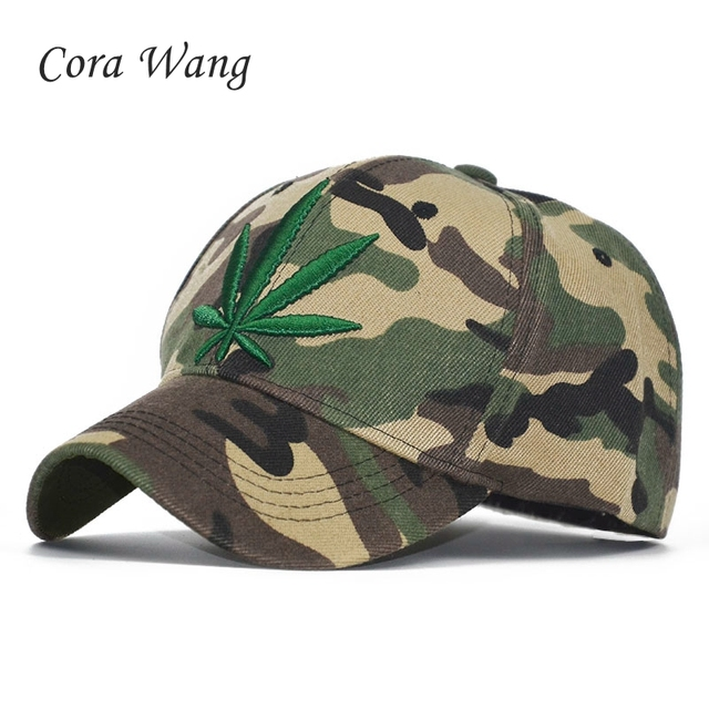 008d10e7667 2018 New Fashion Hot Embroidery Maple Leaf Cap Weed Snapback Hats For Men  Women Cotton Swag Hip Hop Fitted Baseball Caps