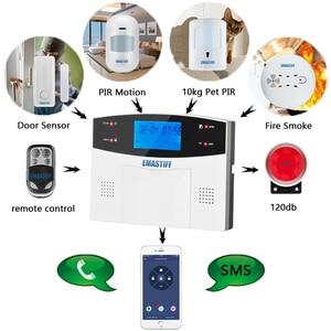 Image 3 - G2BW LCD Keypad WIFI GSM PSTN Home Burglar Security Wireless Wire Alarm System Motion Detector APP Control Fire Smoke Detector