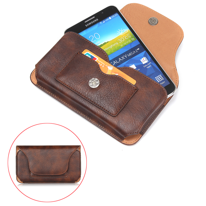 "Mountaineering Hook Loop Belt Pouch Holster Magnetic Horizontal Wallet PU Leather Case For lg g2 g3 g4 g5 k10 5.5"" Below Shell"