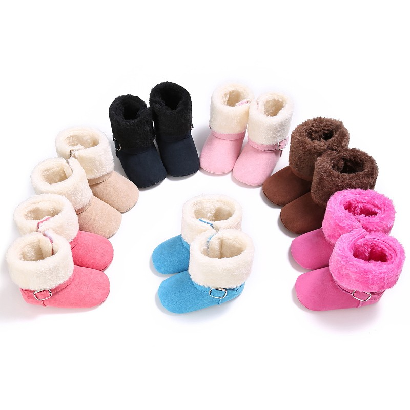 Keep Warm Infant Soft Bottom Snow Boots Baby Boys Girls Winter Shoes Baby Prewalker 2018 New