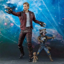 SHFiguarts SHF Guardians Of the Galaxy Marvel Avengers Star-Lord Rocket Raccoon & Árvore Bebê Figuras de Ação Brinquedos PVC anime Modelo(China)