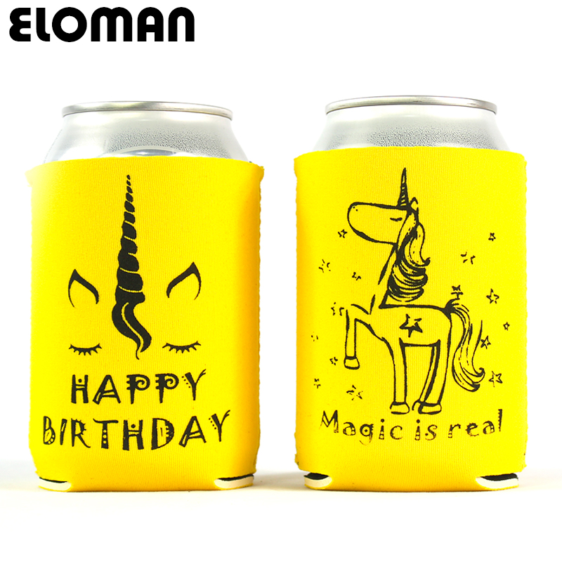 Unicorn Party Can Cooler Eloman Birthday Party Decoration Custum