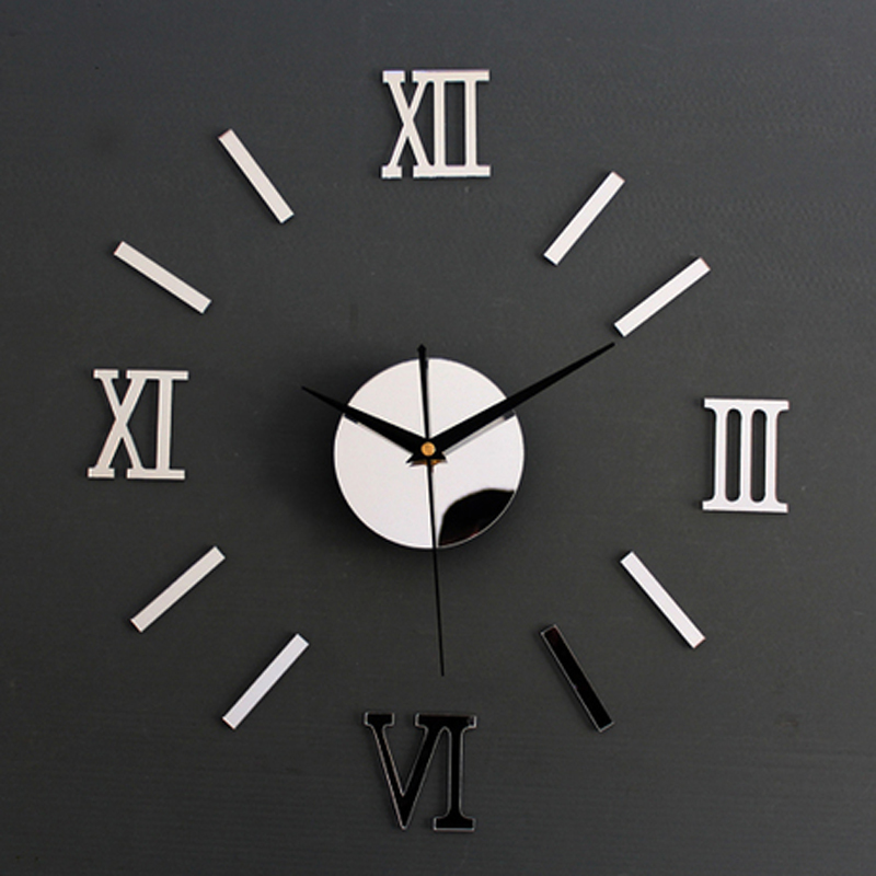 3D Creatively Romae Digital Wall Clock Sticker Watch Modern Design Clock  DIY Clocks On Wall Kitchen Clock Living Room Home Decor