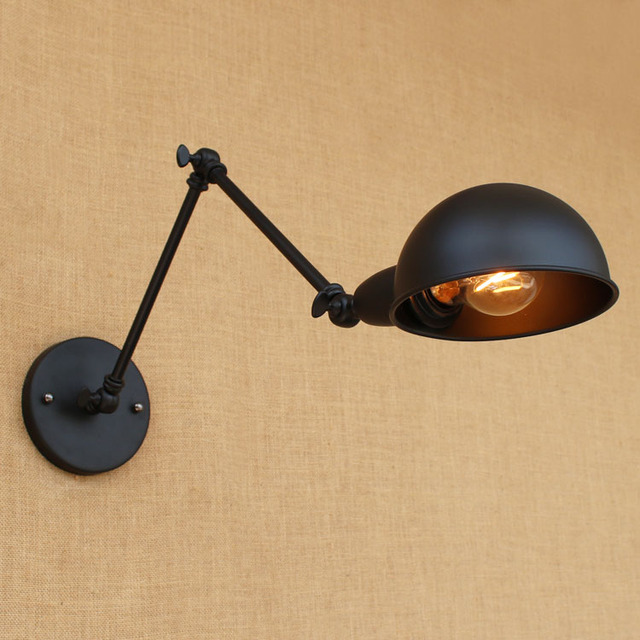 Black Edison Retro Vintage Wall Lamp For Home Dinning Stair Lampen Loft  Style Industrial Wall Light