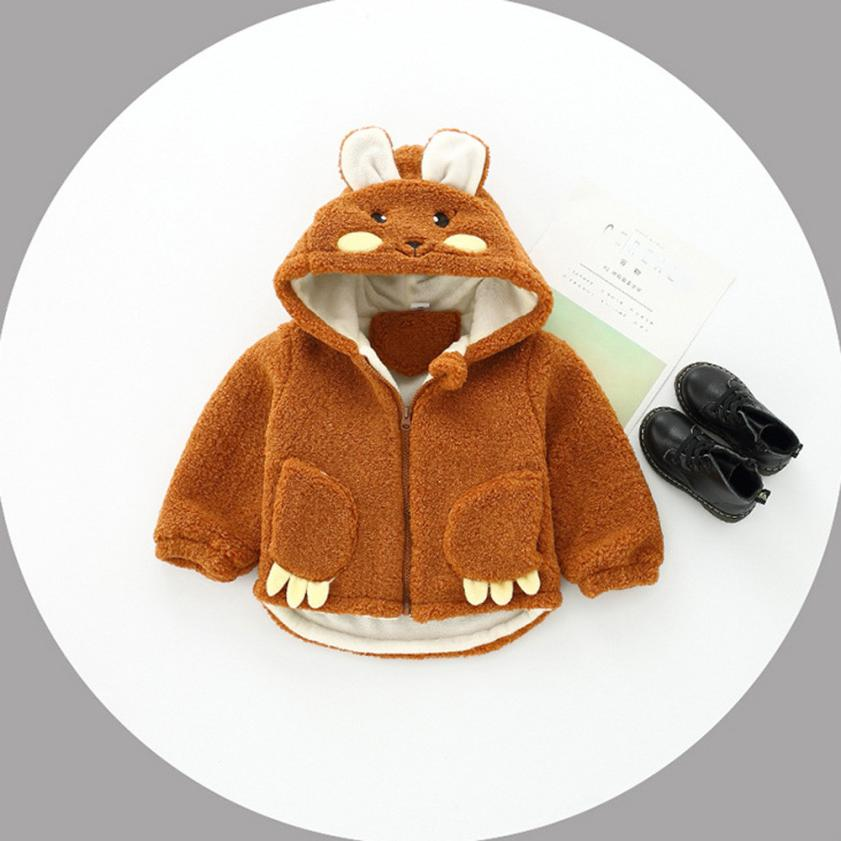 Baby Infant Girls Autumn Winter Hooded Coat Cloak Jacket Thick Warm Clothes NO2