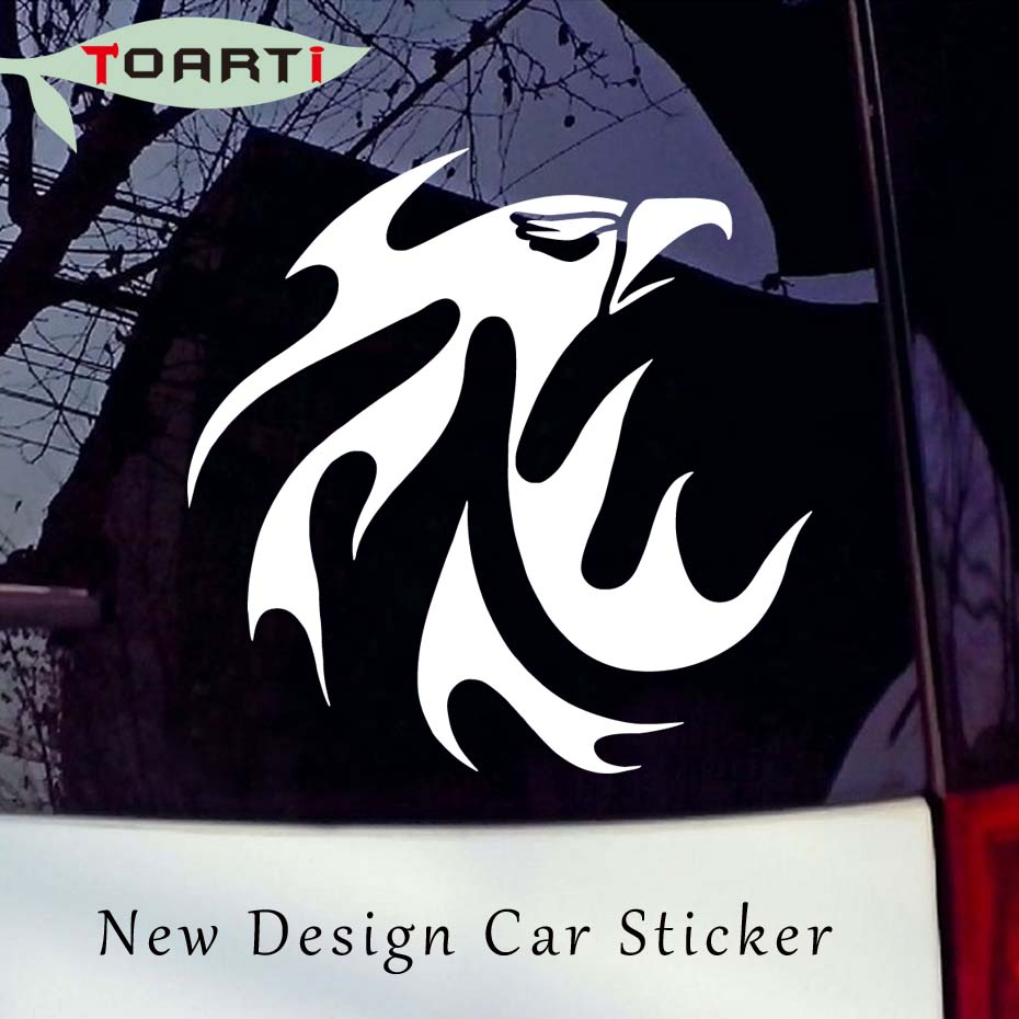 Eagle head with flame decal artistic animal car styling computer sticker new design removable waterproof auto sticker