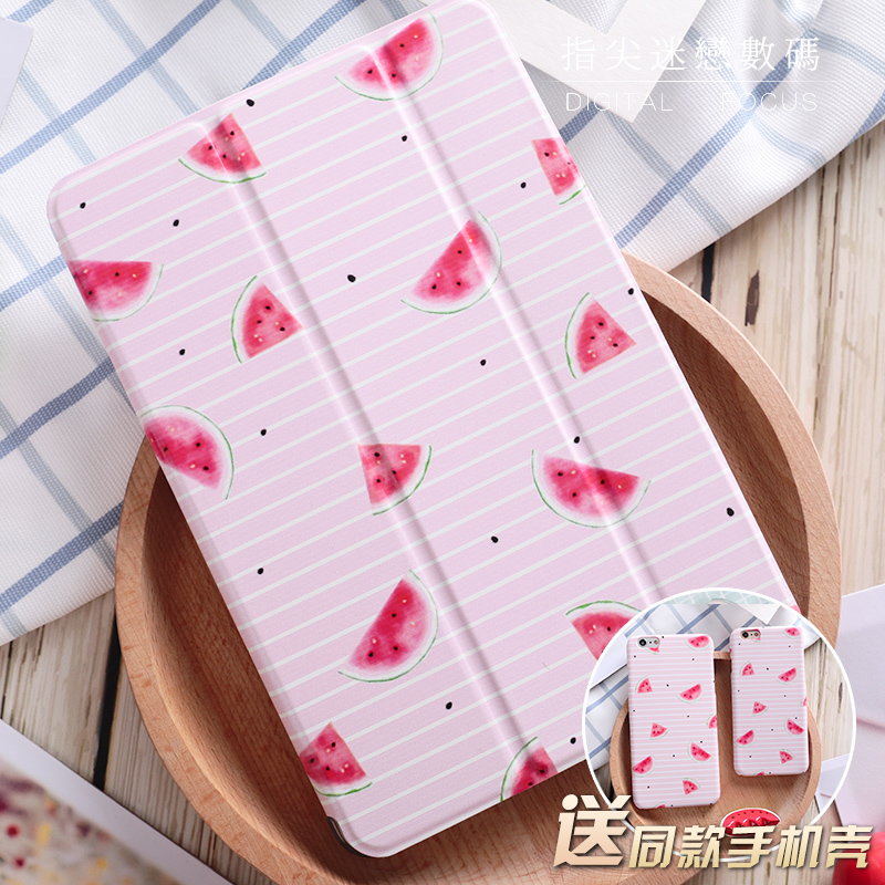 купить For New iPad 9.7 2017 Pink Watermelon Flip Cover For iPad Pro 9.7 10.5 10.5Air Air2 Mini 1 2 3 4 Tablet Case Protective Shell дешево