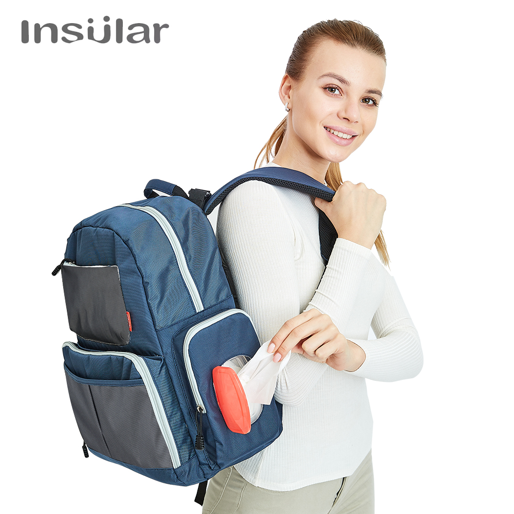 Insular Brand Nappy Bag Travel Backpack Desiger Nursing Bag for Baby Care Multifunctional Mummy Diaper Stroller Backpack BagsInsular Brand Nappy Bag Travel Backpack Desiger Nursing Bag for Baby Care Multifunctional Mummy Diaper Stroller Backpack Bags