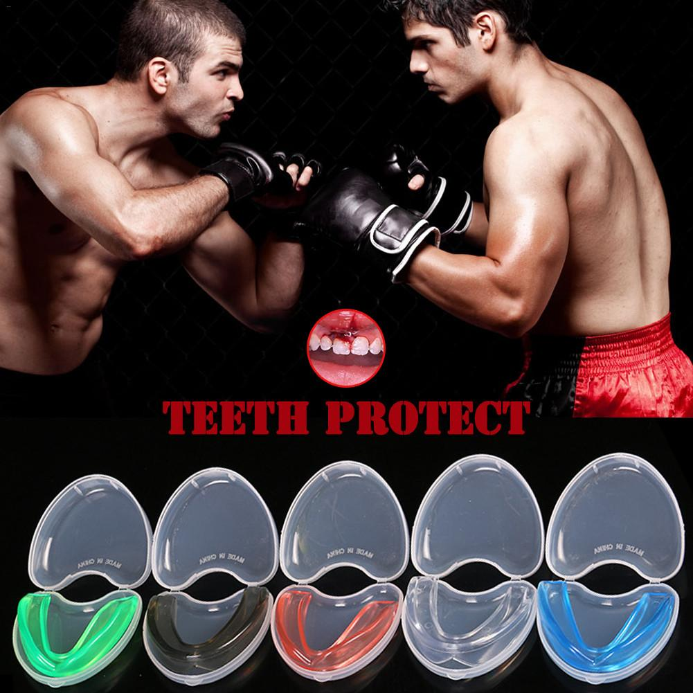 1pc Mouth Guard Teeth Protector With Storage Box Professional Boxing Rugby Sport