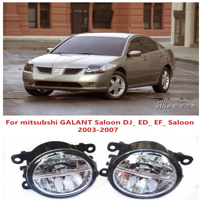 ФОТО For mitsubshi GALANT Saloon DJ_ ED_ EF_ Saloon  2003-2007 Fog Lamps LED Car Styling 10W Yellow White 2016 new lights