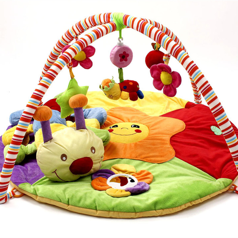 RAINBOX 0-24 Months Baby Play Mats Super Soft Caterpillars Baby Game Mats Toys Children Education Toys Gift For Newborn Kidzl837 ice hockey game table toys sports fun crown gifts for children grasp ability developing boy baby play game
