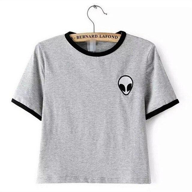Summer 2016 alien printed clothes T-shirts for women tee shirt femme camisetas poleras de mujer tshirt female t shirts tops