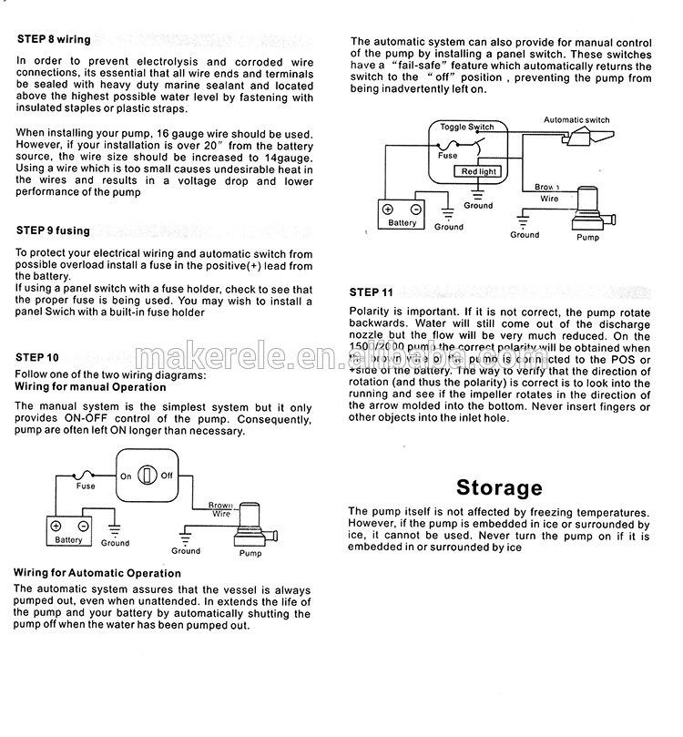 DC 12 V/24 v Automatische Submesible Bilgewasserpumpe 750GPH Auto ...