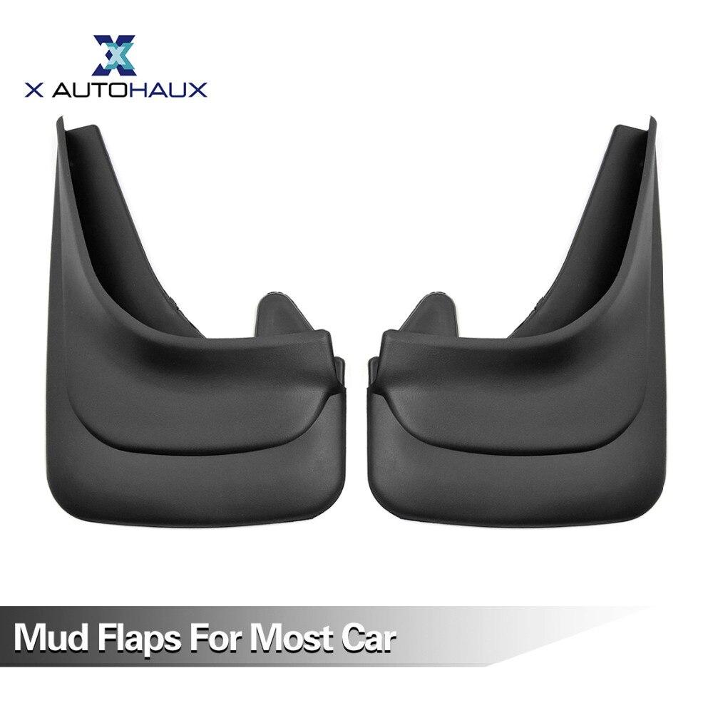 X AUTOHAUX Pair Black Plastic Universal Truck Car Fenders Mud Flaps Mudguards Splash Guards все цены