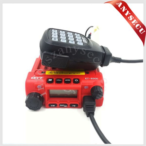 Big Red QYT KT-8900 136-174/400-480MHz Dual Band Mobile Transicever Walkie Talkie KT8900 Free + KT-8900 Programming Cable