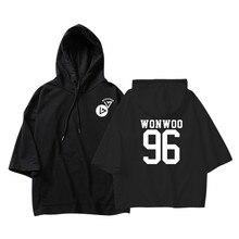 ALIPOP KPOP Korean Fashion Seventeen DINO MINGYU THE8 WONWOO Cotton Thin Three Quarter Hoodies Pullovers Hoode Sweatshirts PT606