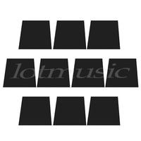 10pcs 1ply 12x12 inch Guitar Pickguard Material Pick Head Veneer Sheet Black 1mm
