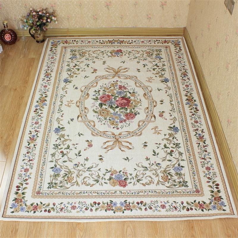 Europe Pastoral Village Carpets For Living Room Home Area Rugs For Bedroom Study/Dining Table Floor Mat Anti-Slip Carpet Mats