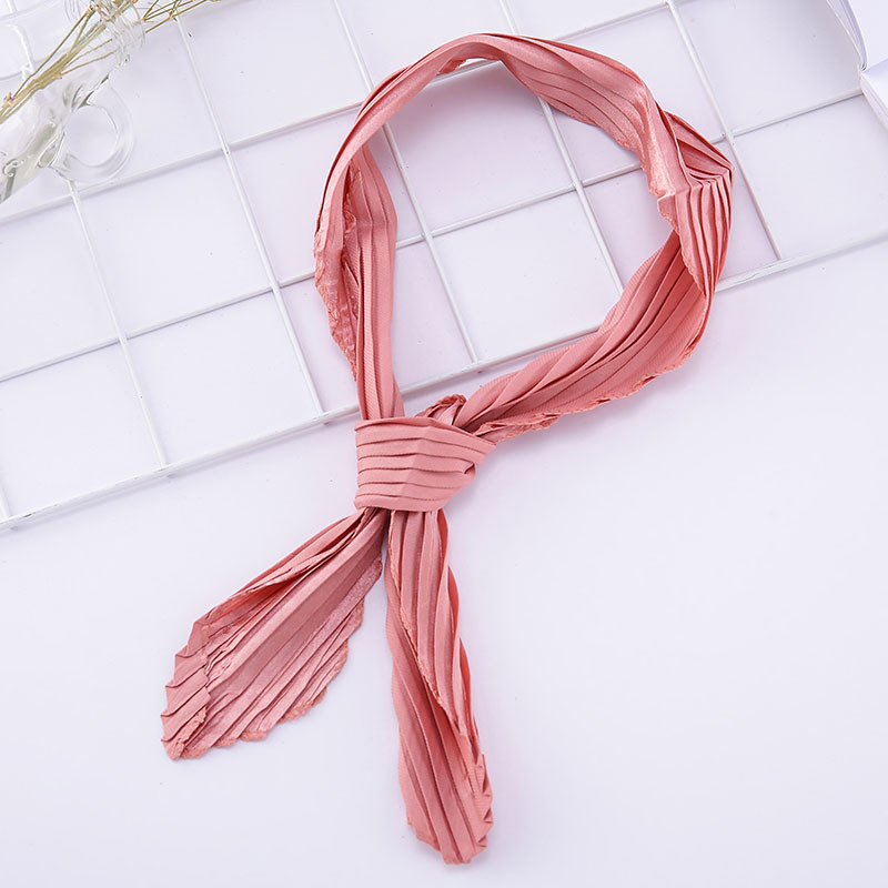 Women Bandanas Multifunction Prints Dot Small Square Scarves Polyester Silk Scarf Bag Handle Foulard Neckerchief
