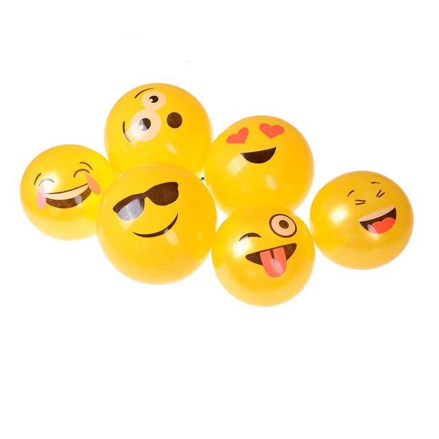 1pcs Emoji Face Expression Beach Pool Water Balls Toy Wedding Ballon