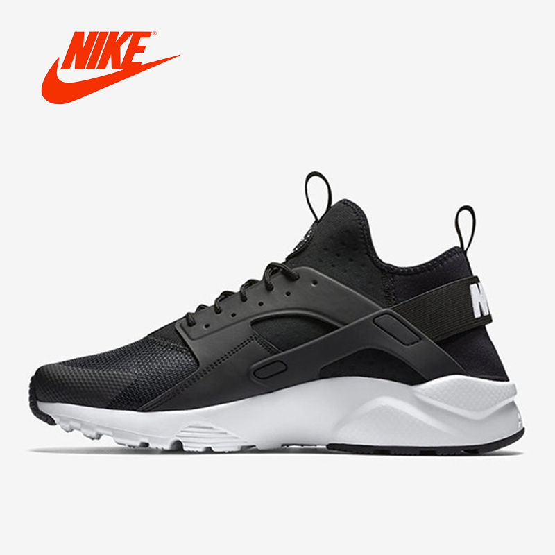 Original NIKE New Arrival AIR HUARACHE RUN ULTRA Men s Breathable Running Shoes Sneakers Classic Tennis