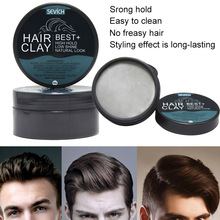 High Quality 80g Hair Styling Clay Gel for Men Strong Hold Hairstyles Matte Finished Molding Cream