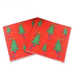 Красный Рождество дерево Бумага салфетки Товары для праздников и вечеринок ткани салфетки украшения guardanapo 33 см * 33 см 20 шт./упак./лот