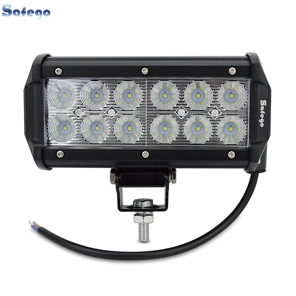 1x 7 inch 36W 3030 LED Light Bar for Truck Trailer 4WD SUV ATV - Car Lights