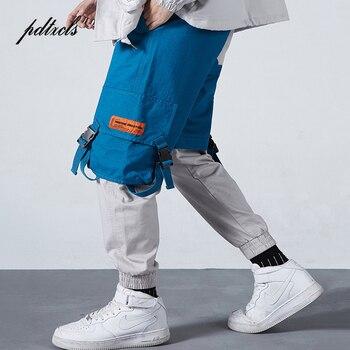 New Arrival Color Patchwork Safari Style Mulit-Pockets Fashionable Mens Jogger Trousers Hip Hop Autumn Casual Male Pencil Pants