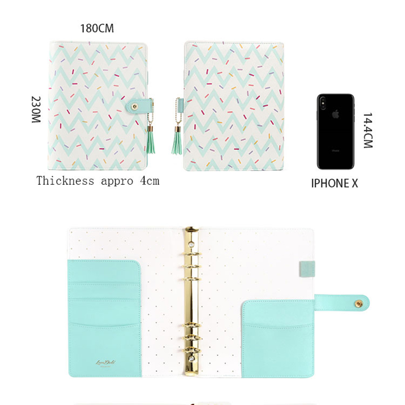Image 5 - Lovedoki 2019 Cute Doughnut Planner Organizer Agenda A5 Spiral Notebooks Student Diary Sketch Book School Stationery Supplies-in Notebooks from Office & School Supplies