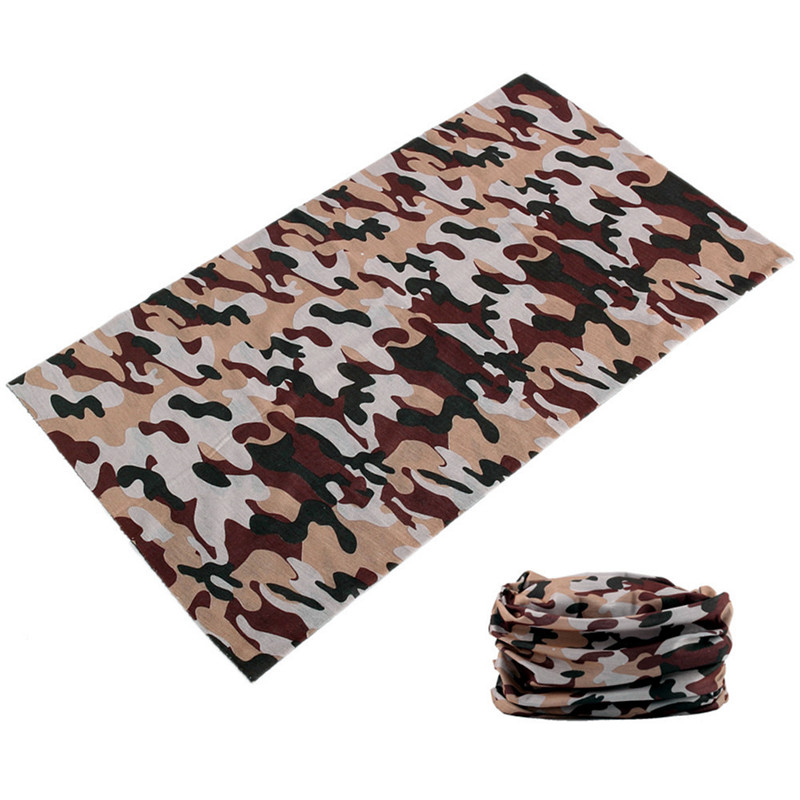 Mens Camouflage Neck Face Mask Headband Shemagh Military Multi Use Seamless Bandanas Magic Neck Gaiter Tube Hijab Buffe