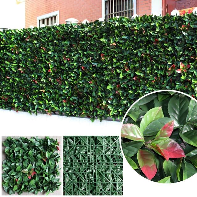 Merveilleux ULAND Artificial Ivy Hedge 50x50cm/pc Decorative Plastic Barrier Leaf Fence  Boxwood Panels Green Garden