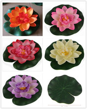 1 PCS Artificial Floating Lotus Garden fake bouquet for wedding decoration manualidades mariage flores plants Water lily