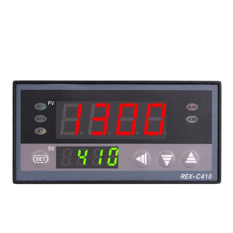 Regolatore di temperatura PID digitale REX-C410 48 * 96mm orizzontale, termocoppia di ingresso K, uscita a relè per riscaldamento