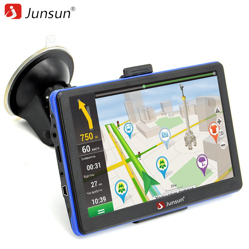 Junsun 7 inch HD Capacitive Car GPS Navigation 8GB MP3 MP4 FM Russia Navitel map Permanent free update navigators