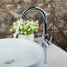 Лучшие высокие Горячие/холодный кухня torneira поворотный 360 Chrome 92452 Умывальник, Раковина Одной ручкой воды судно смеситель кран
