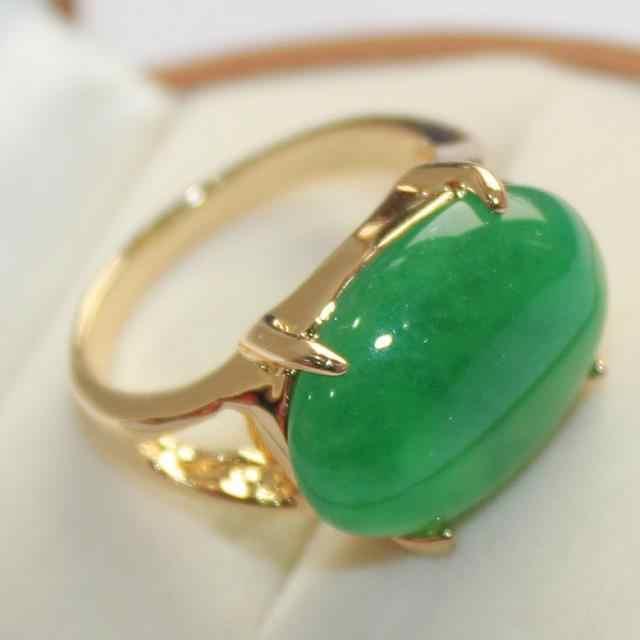 สวยเครื่องประดับ lady's ที่ชื่นชอบแหวนหยกสีเขียว (7,8, 9 #)