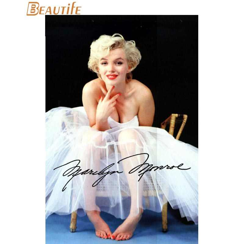 Hot Sale Custom  Marilyn Monroe  Poster Home Decoration Fashion Silk Fabric Wall Poster Custom  Poster  x008