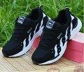 -Baixo preço de venda de 2015 do sexo masculino e feminino sapatos da moda preto e branco, a superfície líquida ventilação sapatos casuais sapatos womansize36-44