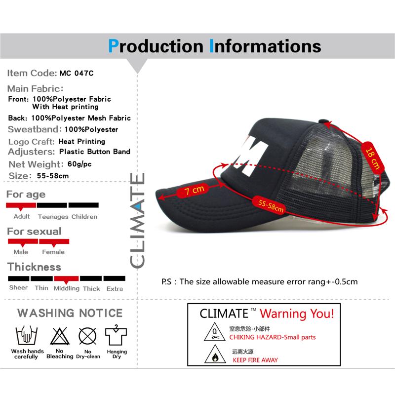 ... 55-58 cm . DSC 1893 DSC 1892 DSC 1891. CLIMATE Men New Mesh Trucker Caps  M3 M5 Car Fans Cool Summer Adult ... 62bcdccd807f
