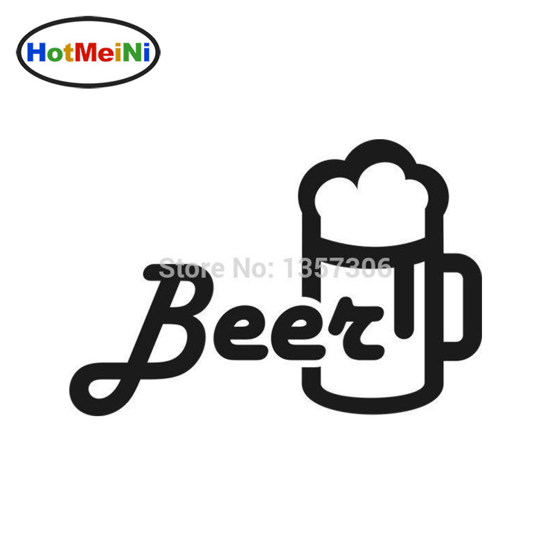 HotMeiNi 12*7.5cm Hot Sale Beer Mug Car Window Sticker Vinyl Decal Truck And All The Smo ...
