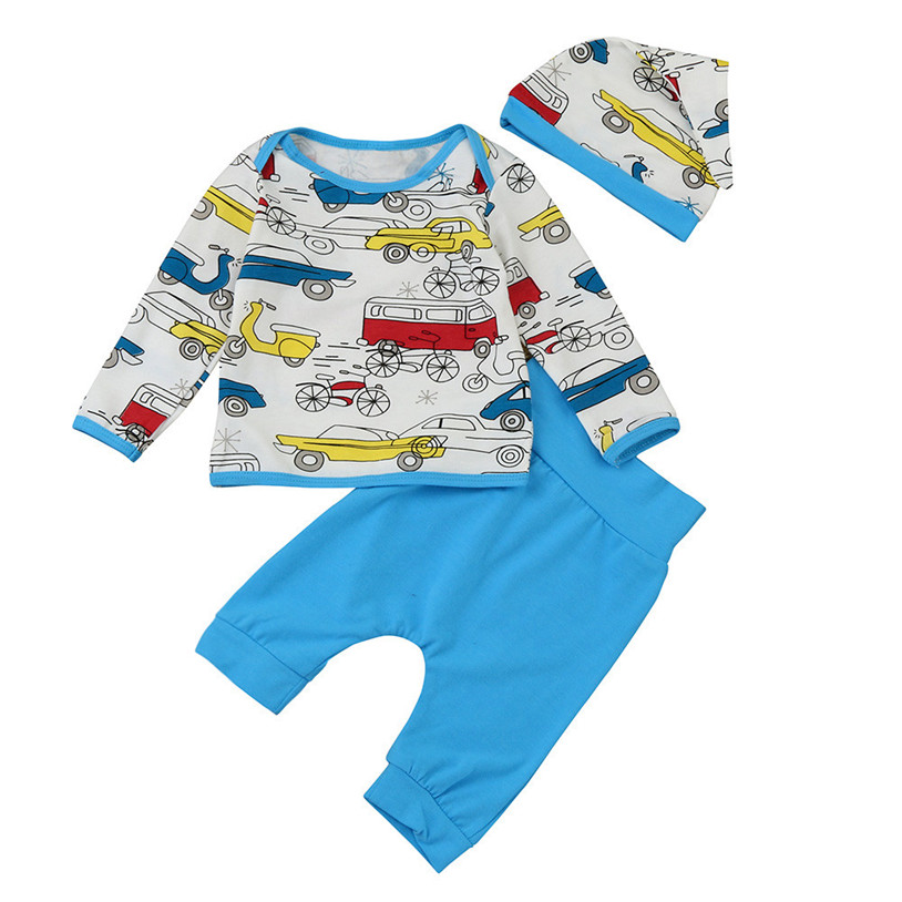 Toddler Infant Baby Girl Boy Cloud Print T Shirt Tops+Pants Outfits Clothes Set