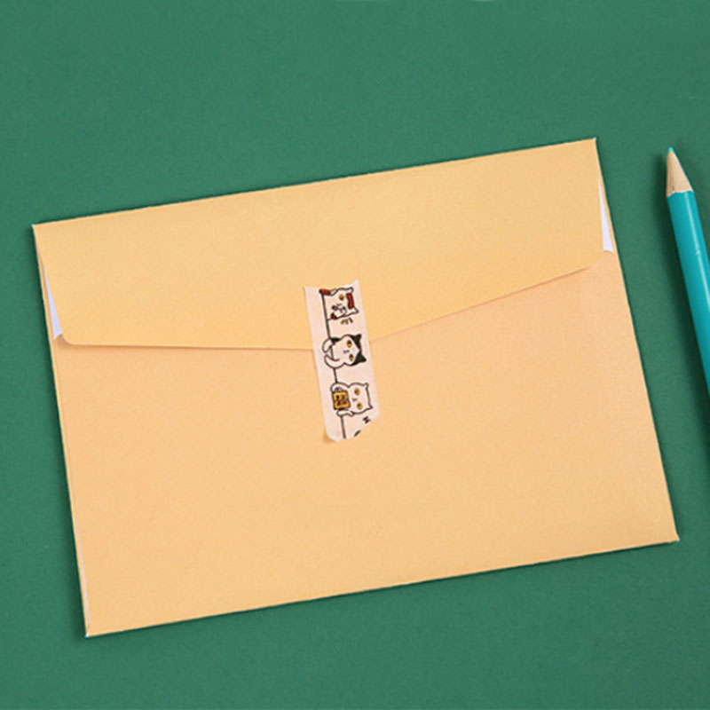1 Sets Creative Hand Draw The Small Animals Greeting Card Envelope
