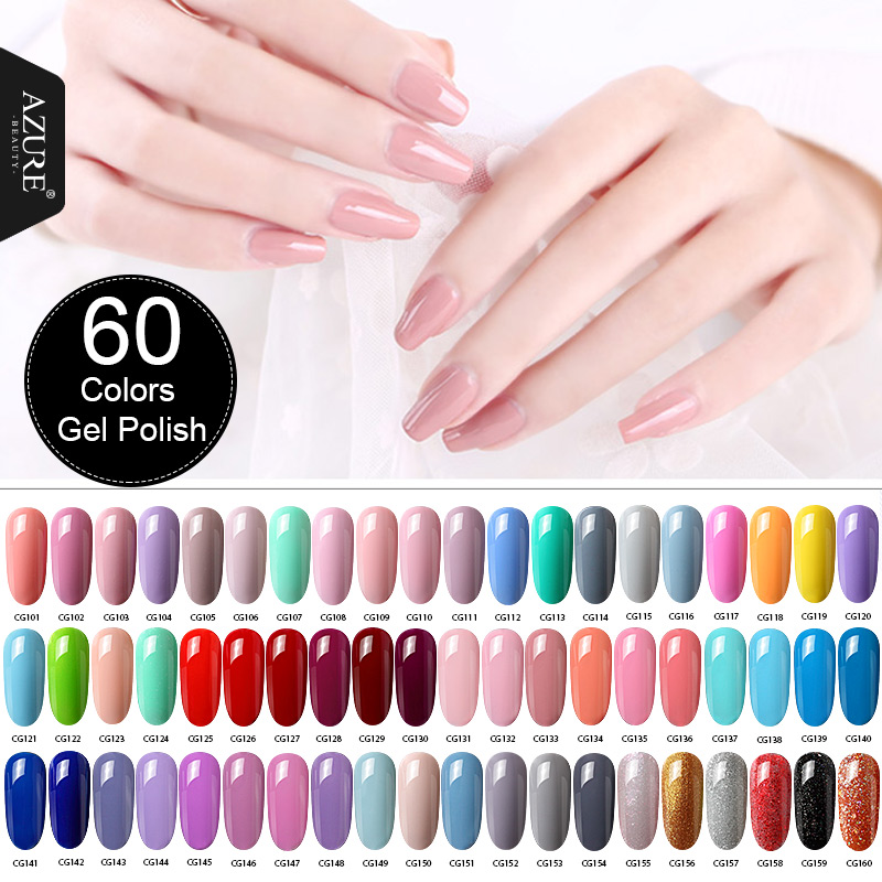 Azure Beauty 120color Gel Polish Nail Lacquer Soak Off Uv Gel For Professional Manicure Nail Art