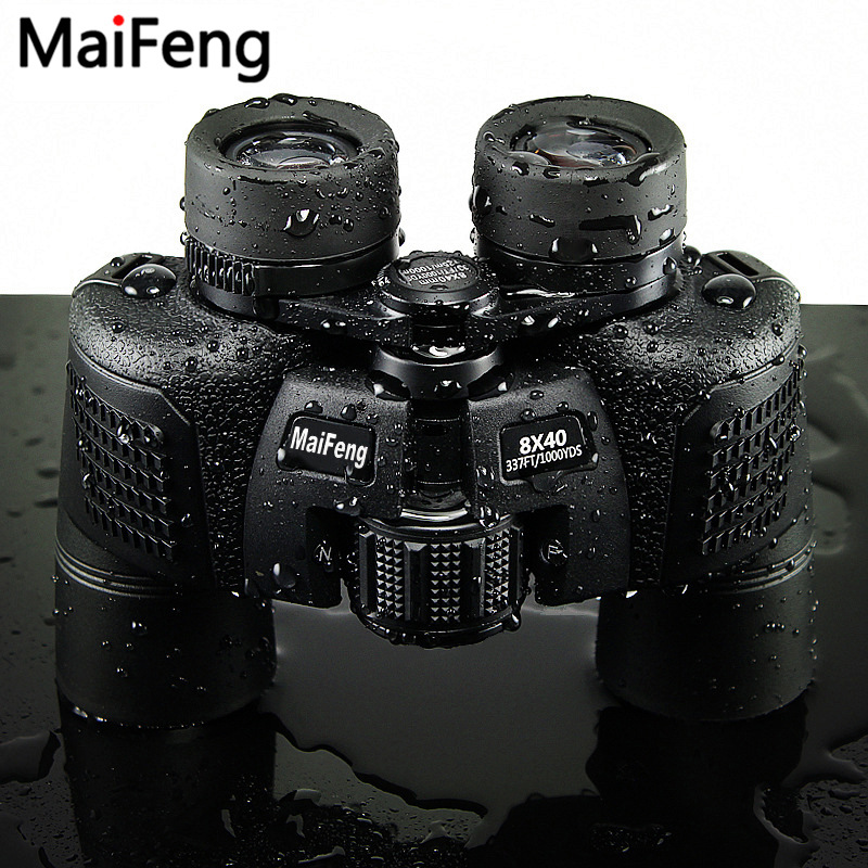 MaiFeng binoculars 8X40 Professional Hunting Telescope Zoom High Quality Big Clear Vision No Infrared Waterproof Binocular