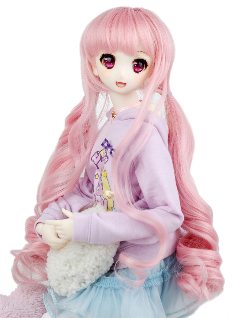 1/3 1/4 BJD Wig Pullip Dal DD SD LUTS Dollfie Doll Wig High Temperature Hair 7-8 8-9 inch Long Curly Wig 2333 кукла an gaga hand white angel set blythe yosd pullip dal