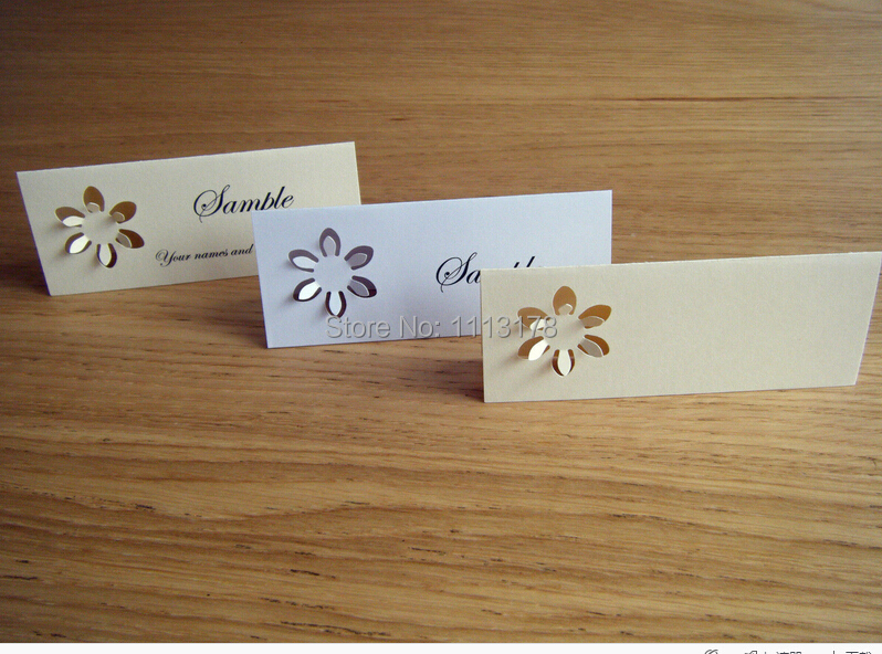 Name place cards table setting sunflowers wedding place for Table place cards